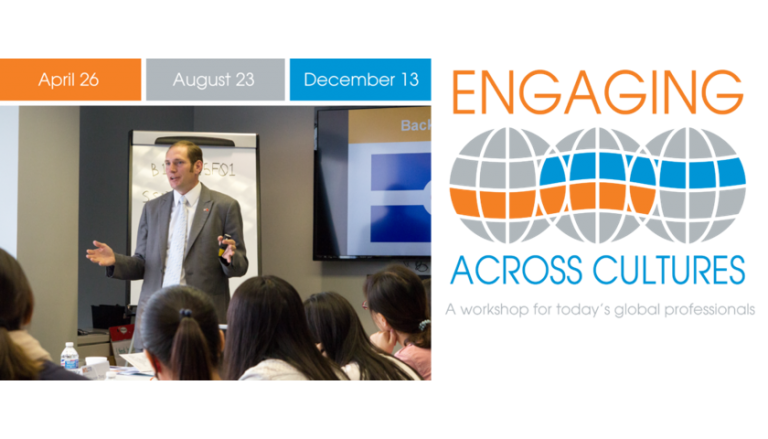 Engaging Across Cultures - Join me!