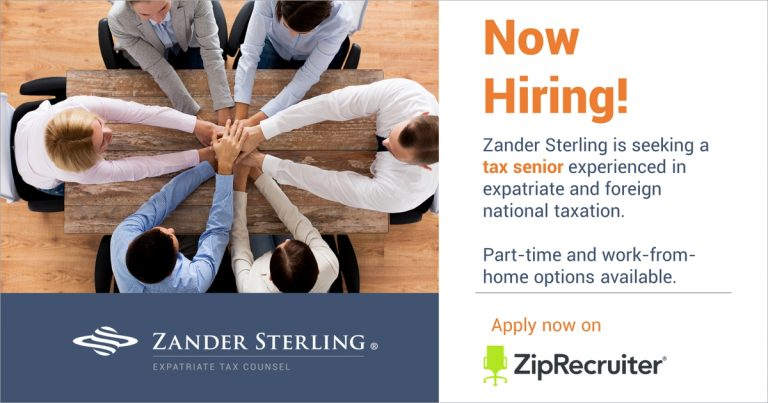 Now Hiring - Senior, U.S. Expatriate / Foreign National Tax